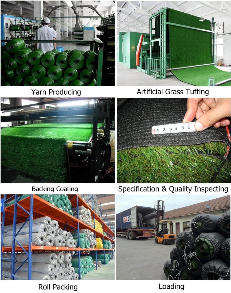 Artificial grass production process