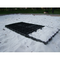 Black Color Plastic Grid Floor System